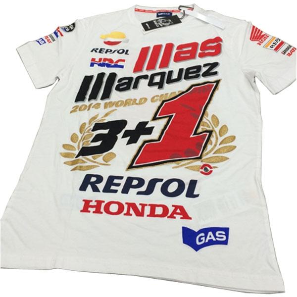 motoGP 【アウトレット】個別配送のみ MOTO GP 2014 マルケスチャンピオン記念Tシャツ