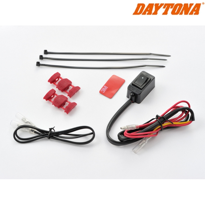 DAYTONA 91751 ホットグリップ 巻きタイプEASY用 ON/OFFスイッチ ブラック