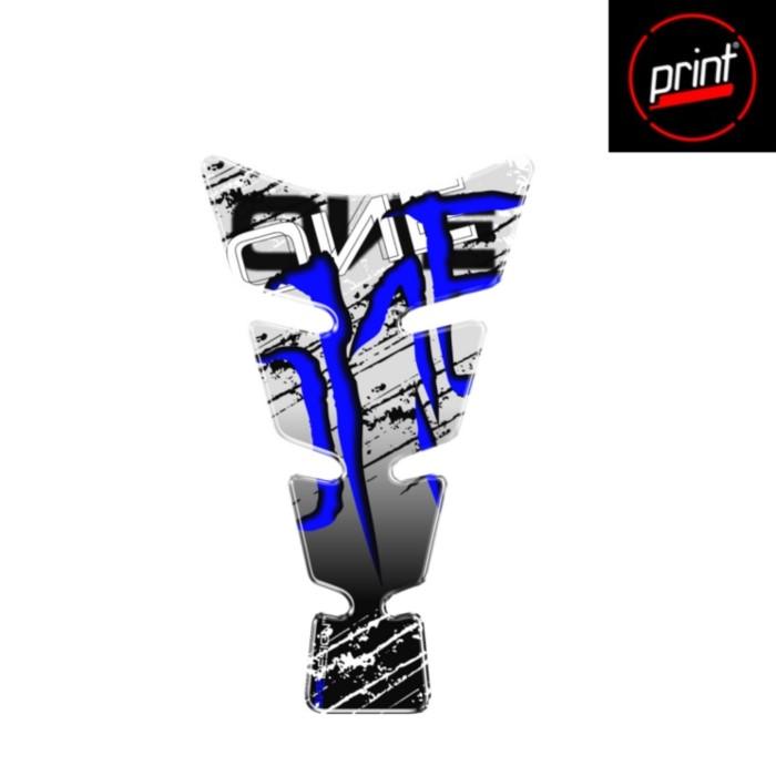 print CG-SENBP PRINT タンクパッド スクラッチ ブルー 213×128mm