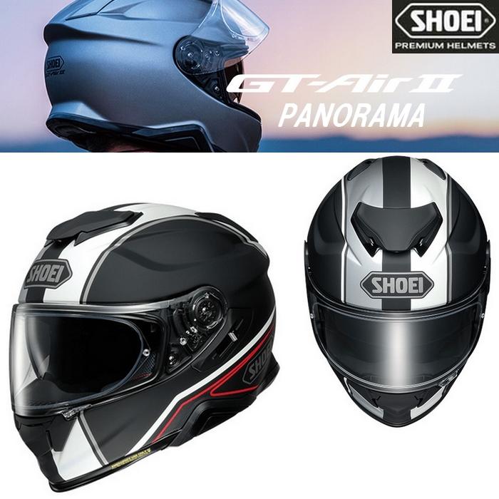 SHOEI ヘルメット GT-Air II PANORAMA【パノラマ】フルフェイスヘルメット  TC-5 (BLACK/WHITE) マットカラー