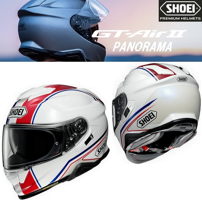 SHOEI ヘルメット GT-AirⅡ PANORAMA【パノラマ】フルフェイスヘルメット  TC-10 (RED/BLUE)