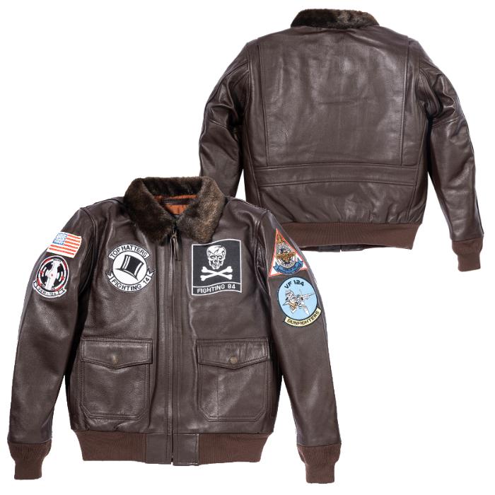 HOUSTON HTVL-2002 G-1 PATCH CUSTOM 01 ブラウン◆全2色◆