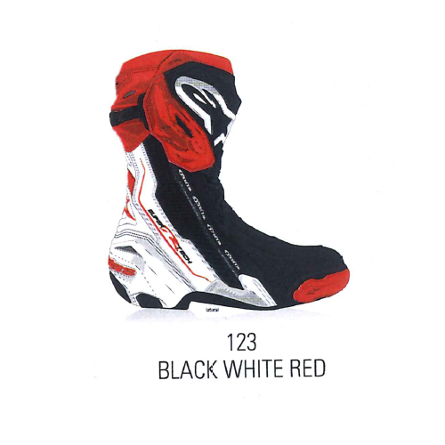 alpinestars 2220021 SUPERTECH R BOOT BLACK WHITE RED(123)◆全4色◆