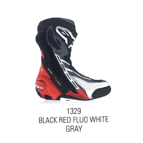 alpinestars 2220021 SUPERTECH R BOOT BLACK RED FLUO WHITE GRAY(1329)◆全4色◆