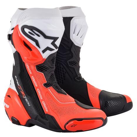 alpinestars 2220121 SUPERTECH R VENTED BOOT BLACK WHITE RED FLUO(124) ◆全3色◆