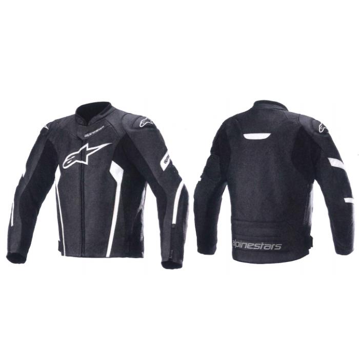 alpinestars 3103621 FASTER AIRFLOW V2 LEATHER JACKET BLACK WHITE(12) ◆全3色◆