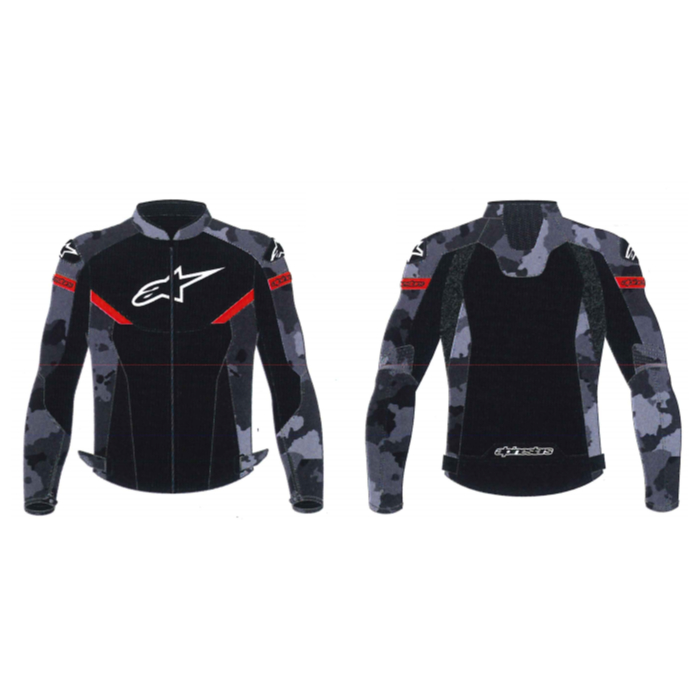 alpinestars 3304220 AXIOM AIR JACKET CAMO BLACK RED FLUO(9713) ◆全2色◆