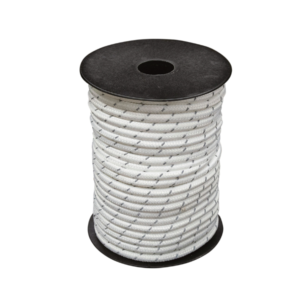 小川テント お取り寄せ商品 張綱φ5㎜ 白 反射材入り 30m(ボビン巻)