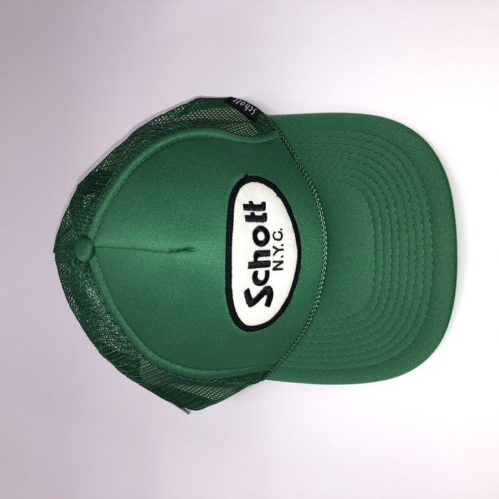 SCHOTT 【アウトレット】個別配送のみ  SCHOTT TRUCKER CAP BASIC LOGO 78 GR
