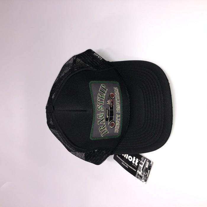 SCHOTT 【アウトレット】個別配送のみ  SCHOTT TRUCKER CAP DRAG STRIP 09 BK