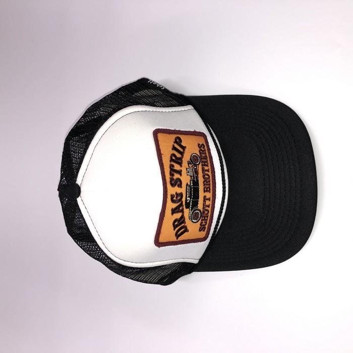 SCHOTT 【アウトレット】個別配送のみ  SCHOTT TRUCKER CAP DRAG STRIP 99 BW