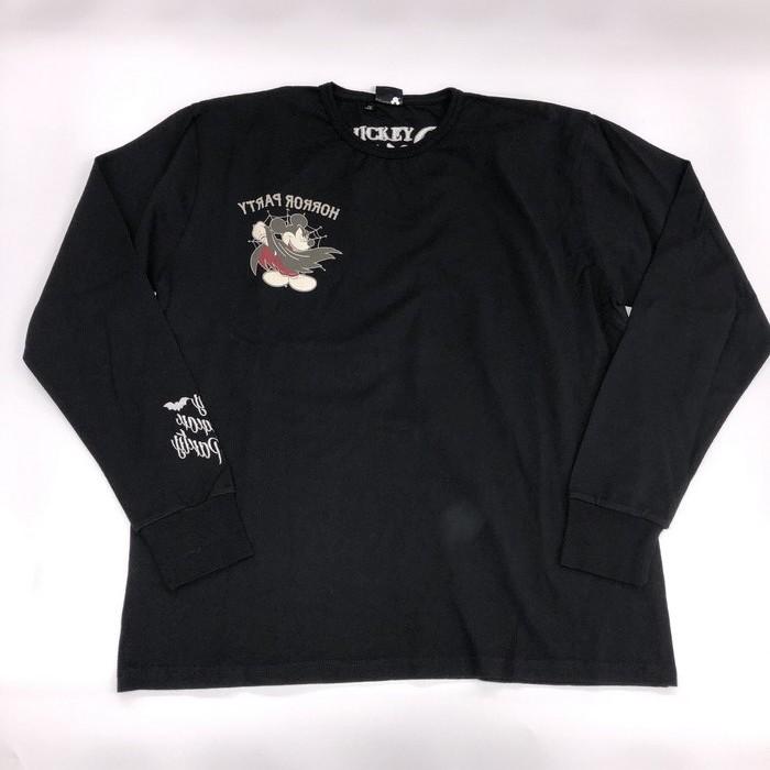三高 【ウェアアウトレット】半額以下!個別配送のみ ミッキー 長袖Tシャツ ブラック