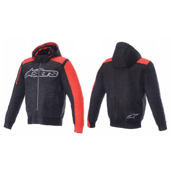 alpinestars 4200420 RHOD WINDSTOPPER HOODIE BLACK BRIGHT RED(1303)  ◆全2色◆