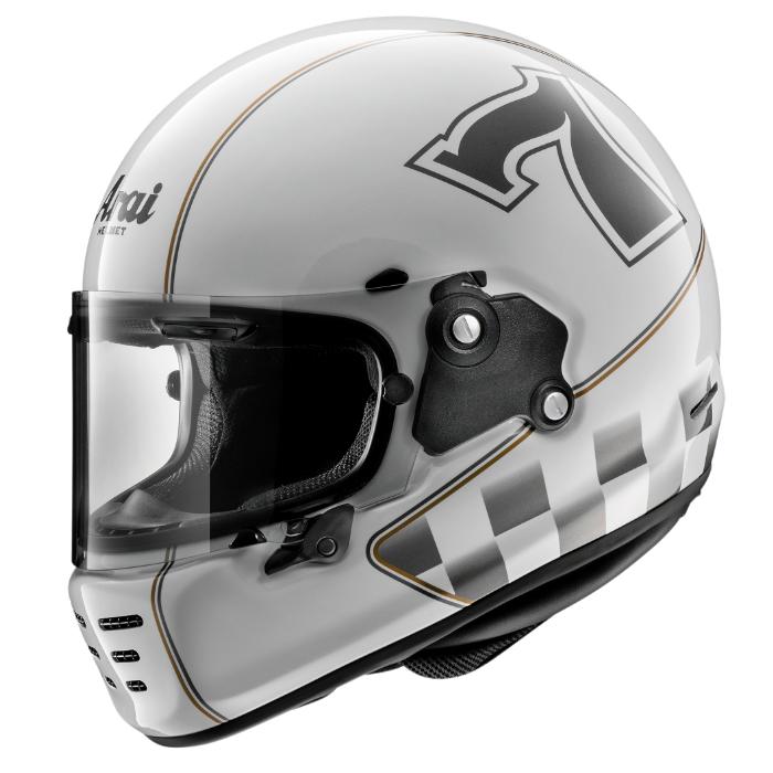 RAPIDE-NEO CAFE RACER [ラパイドネオ カフェレーサー] ヘルメット グラスホワイト 山城限定カラー