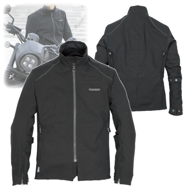 POWERAGE 4月上旬発売予定 PJ-21107コーデュラトラックライダース ブラック◆全3色◆