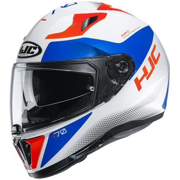HJC HJH193 i70 TAS[タス]WHITE/RED/BLUE(MC26H) フルフェイスヘルメット