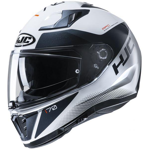 HJC HJH193 i70 TAS[タス]WHITE/BLACK(MC10) フルフェイスヘルメット