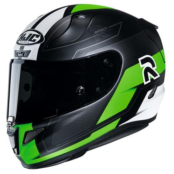 HJC HJH185 RPHA11 【フェスク】 BLACK/GREEN フルフェイスヘルメット