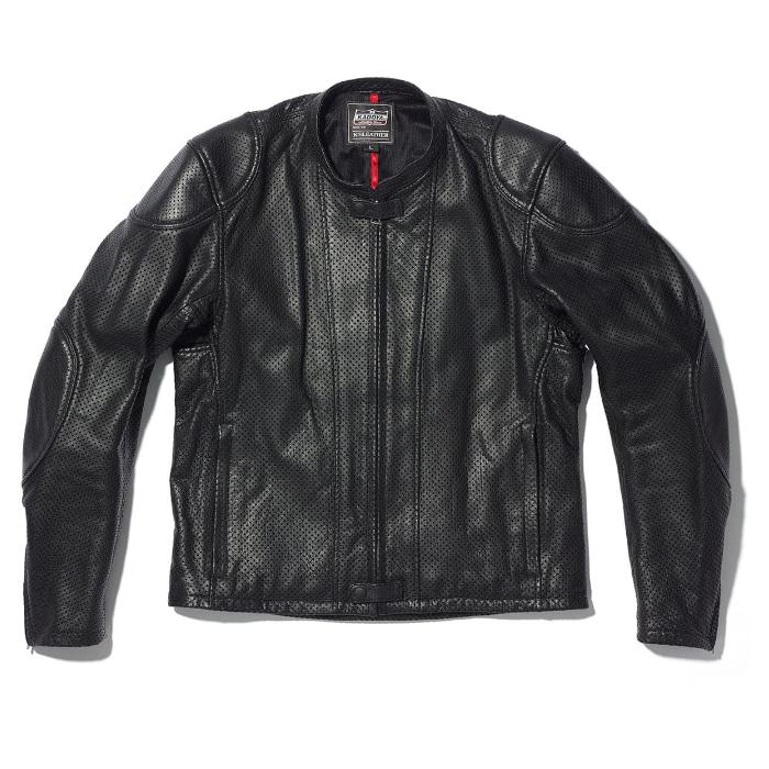 KADOYA 1307 レザージャケットパンチング PL MONO FIGHTER ブラック