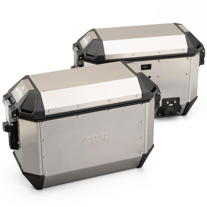 GIVI サイドケース 各36L シルバー アルミ製 左右セット TREKKER ALASKA ALA36A PACK2