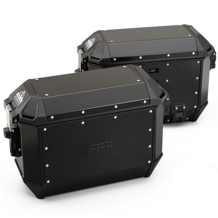 GIVI サイドケース 各36L ブラック アルミ製 左右セット TREKKER ALASKA ALA36B PACK2