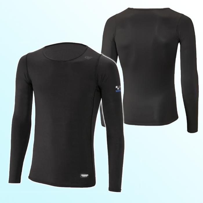 GOLDWIN GSM24009 クーリング クルーネックシャツ ブラック(K)◆全2色◆