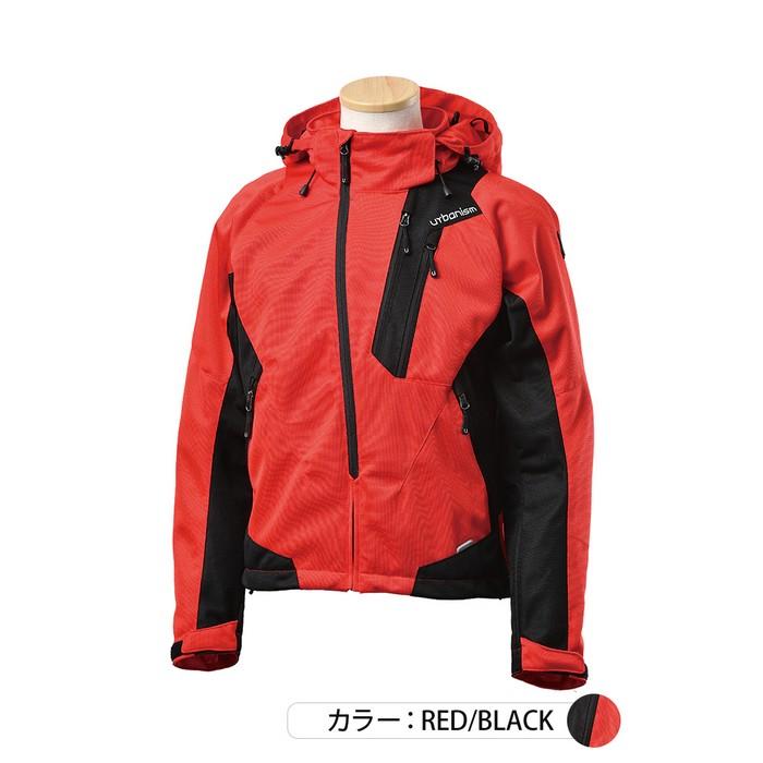 J-AMBLE UNJ-091 フードメッシュジャケット レッド/ブラック◆全5色◆