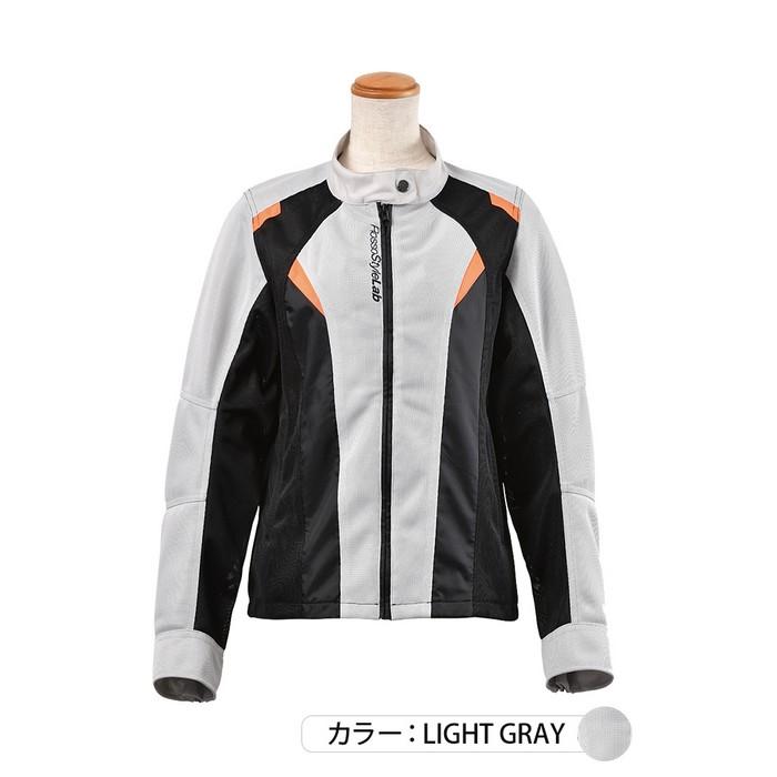 J-AMBLE ROJ-95 ライダースメッシュコンビジャケット ライトグレイ◆全3色◆