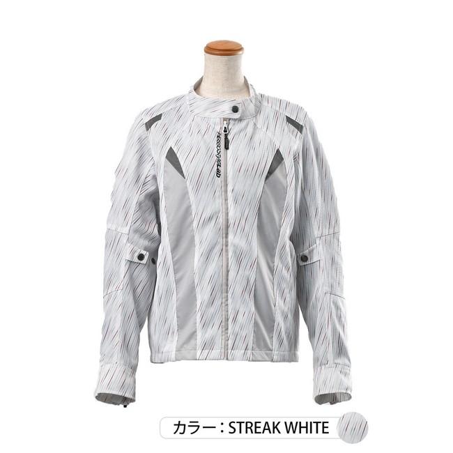 J-AMBLE ROJ-95 ライダースメッシュコンビジャケット ストリークホワイト◆全3色◆