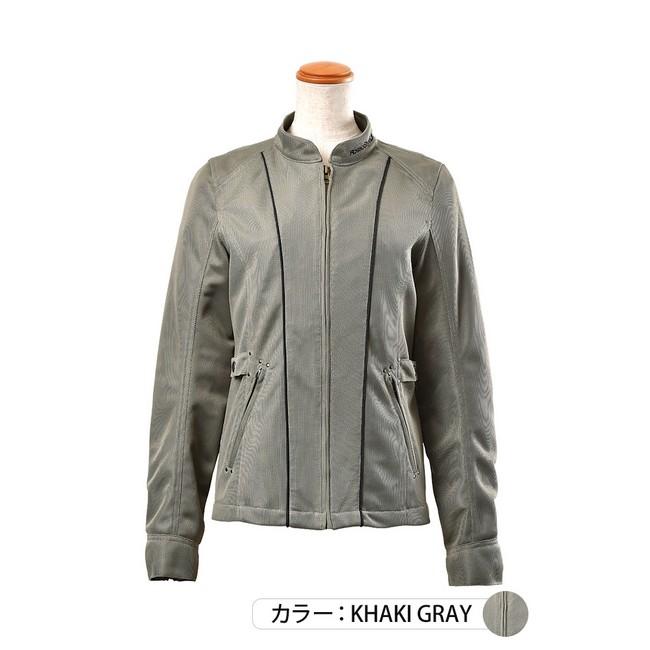 J-AMBLE ROJ-96 防風インナー付スタイルアップメッシュジャケット カーキグレイ◆全4色◆