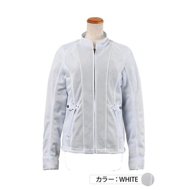J-AMBLE ROJ-96 防風インナー付スタイルアップメッシュジャケット ホワイト◆全4色◆
