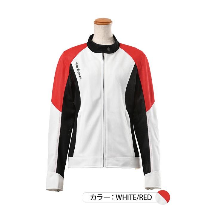 J-AMBLE ROJ-97 スタイルアップメッシュジャケット ホワイト/レッド◆全4色◆