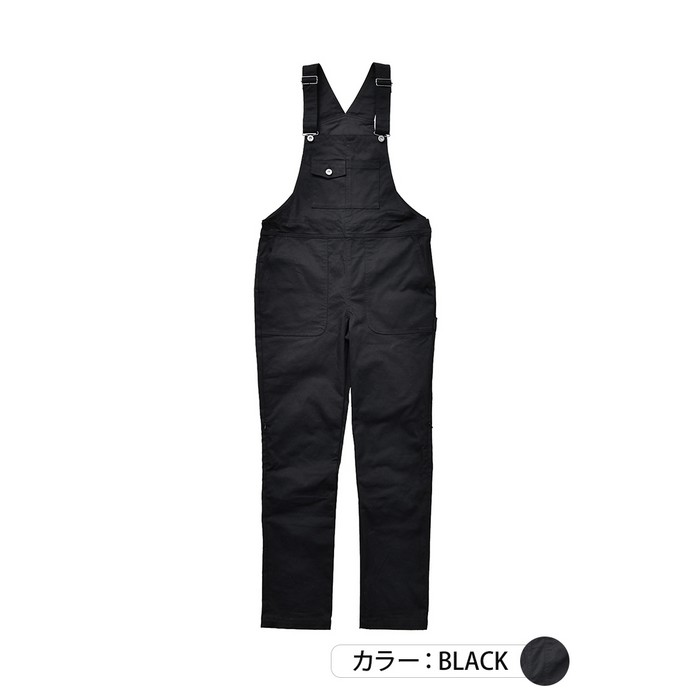 J-AMBLE ROP-52 プロテクトストレッチサロペット ブラック◆全2色◆