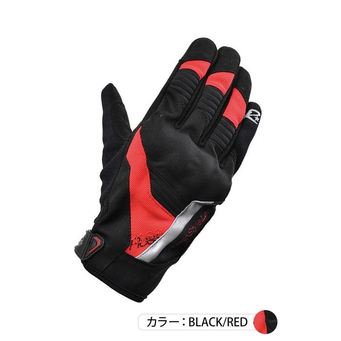 J-AMBLE RSG-325 プロテクトライディンググローブ ブラック/レッド◆全3色◆
