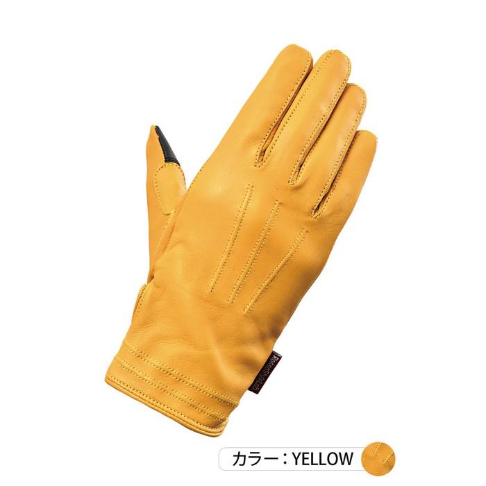 J-AMBLE RSG-326 オールシーズンレザーグローブ イエロー◆全4色◆