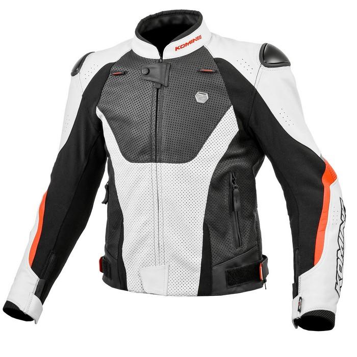 komine LJ-536 Protect Leather Jacket White/Black◆全2色◆