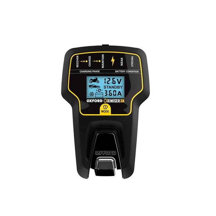 OXFORD バイク用 バッテリー充電器 ディスプレイ付きバッテリーメンテナー Oximiser タイプ3X