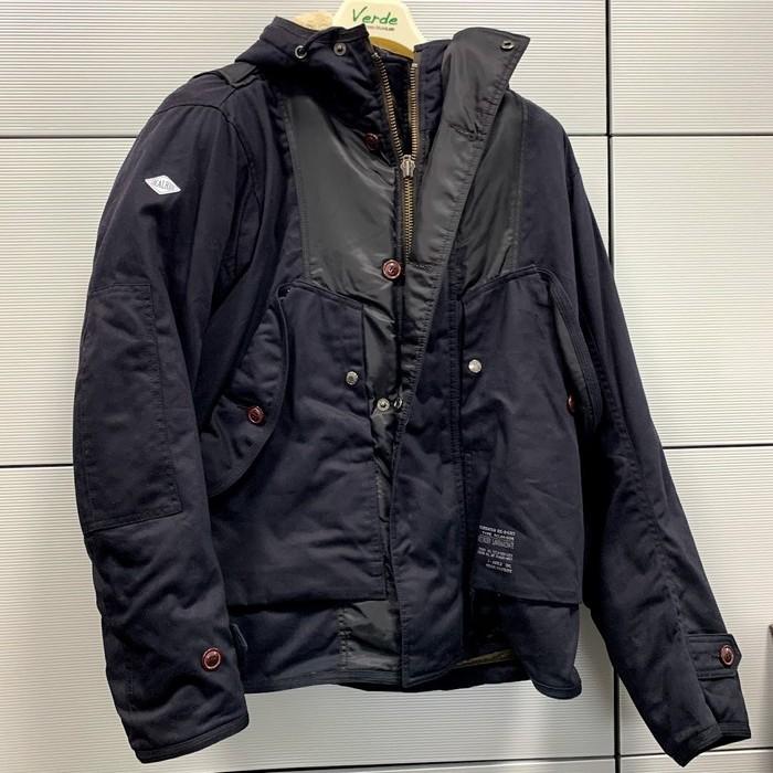 VERDE 【アウトレット】個別配送のみ ROJM-005 プロテクトカーゴジャケット BK 防寒/防風/秋冬モデル