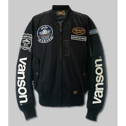 VANSON VS21101S MESH MA-1 JACKET ブラック/ホワイト ◆全6色◆