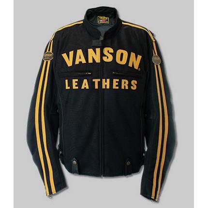 VANSON VS21105S MESH RIDERS JACKET ブラック/イエロー ◆全4色◆