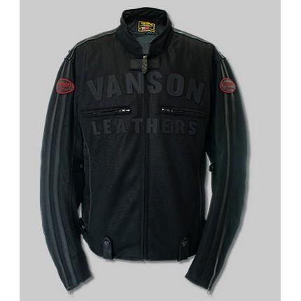 VANSON VS21105S MESH RIDERS JACKET ブラック/ブラック ◆全4色◆