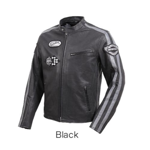DEGNER 20SJ-1 メッシュレザージャケット ブラック◆全2色◆