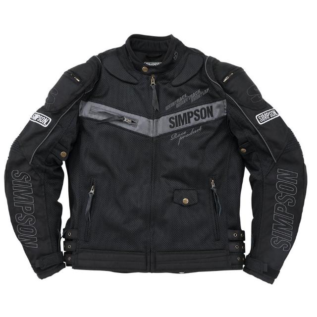 NSM-2101 メッシュライダースジャケット ブラック◆全4色◆