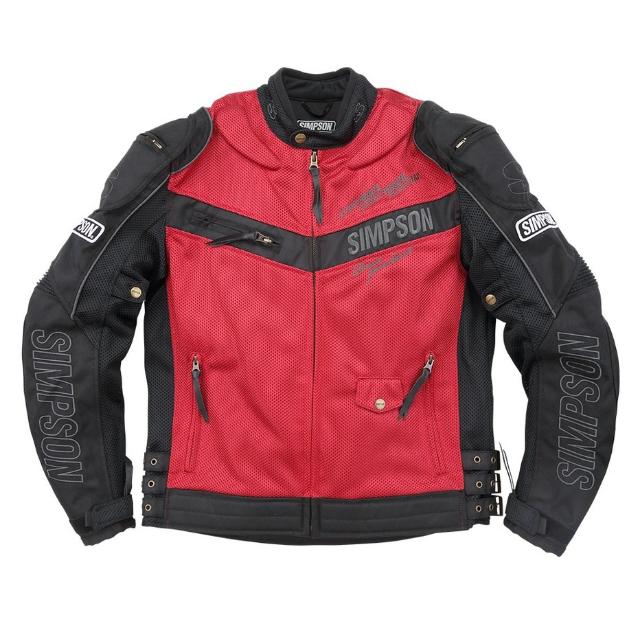 NSM-2101 メッシュライダースジャケット レッド◆全4色◆
