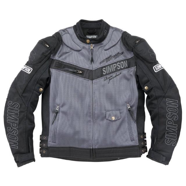 NSM-2101 メッシュライダースジャケット グレイ◆全4色◆