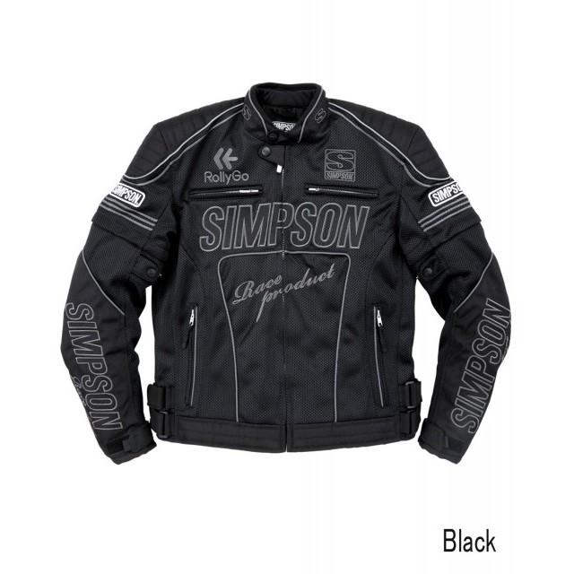 SIMPSON NSM-2102 メッシュライダースジャケット ブラック◆全4色◆