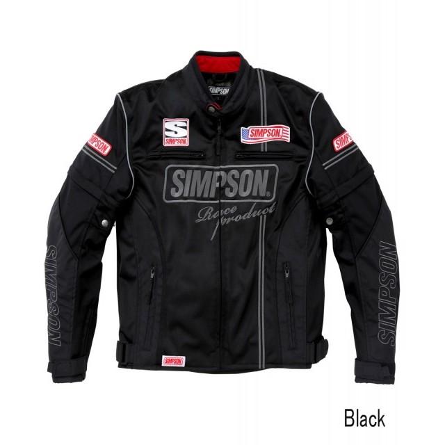 SIMPSON NSM-2104 メッシュライダースジャケット ブラック◆全4色◆