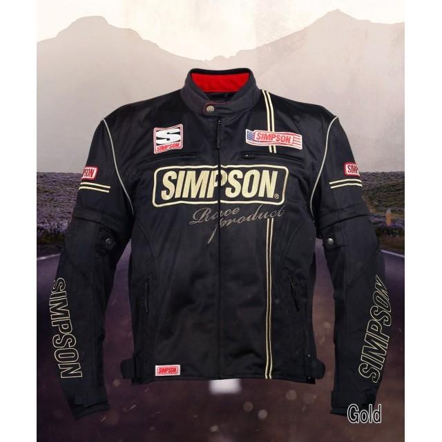 SIMPSON NSM-2104 メッシュライダースジャケット ゴールド◆全4色◆
