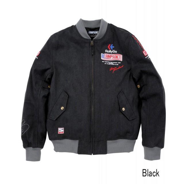 SIMPSON NSM-2107 ボンバーライダースジャケット ブラック◆全4色◆