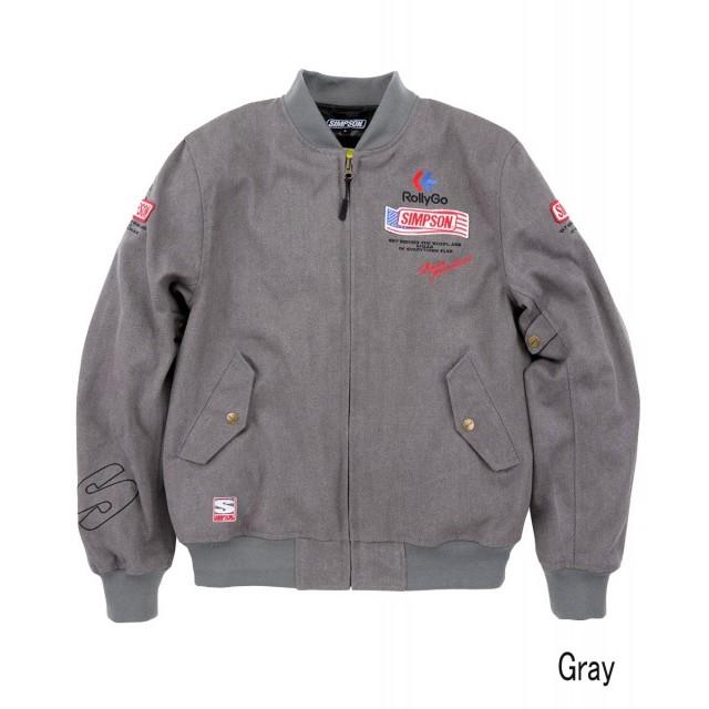 SIMPSON NSM-2107 ボンバーライダースジャケット グレイ◆全4色◆